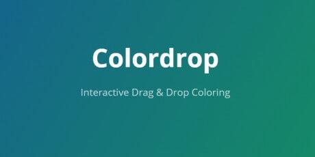 drag drop coloring