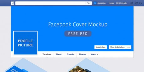 facebook psd cover mockup