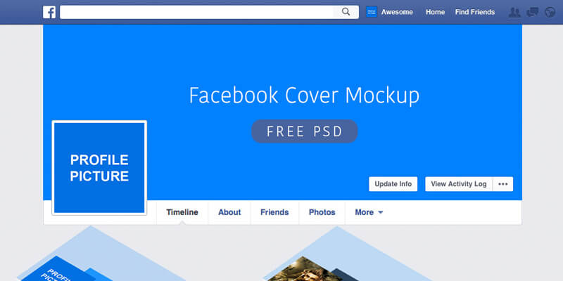 Facebook Psd Cover Mockup Bypeople