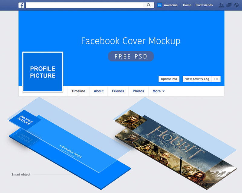 Facebook PSD Cover Mockup - ByPeople