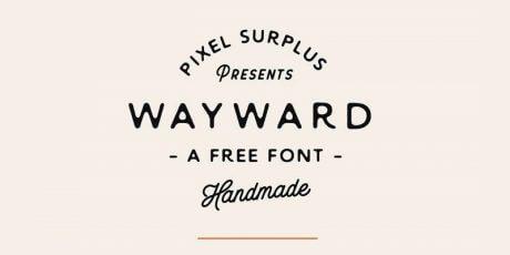 free handmade stylish font
