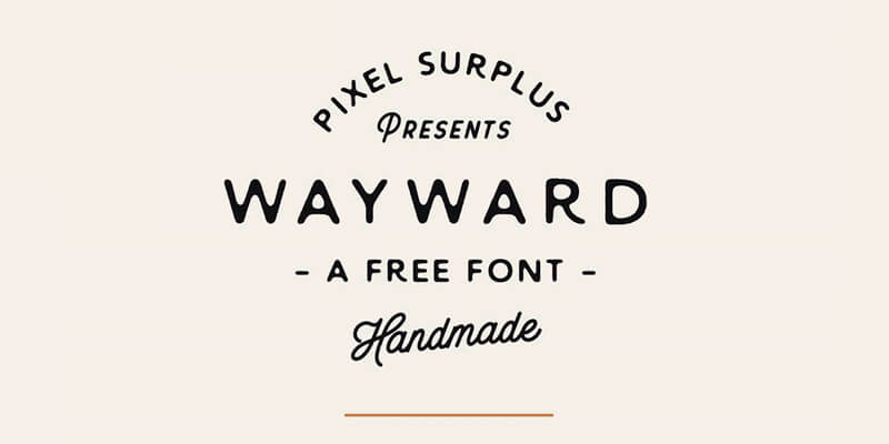 Wayward Free Handmade Stylish Font