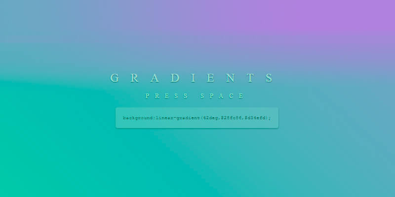 gradients beautiful gradient colors snippet