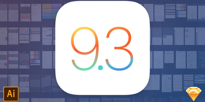 Illustrator & Sketch iOS 9 3 UI Kit | Bypeople