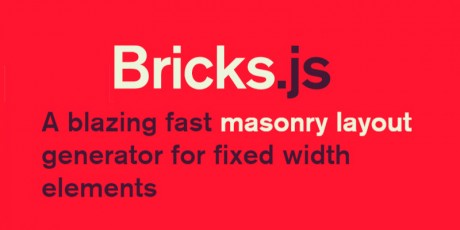 masonry layout bricks javascript generator