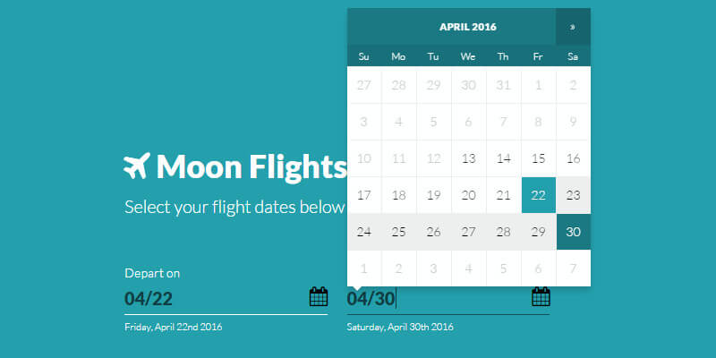 CSS Minimal & Clean Bootstrap Date Picker | Bypeople