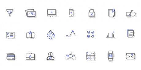 psd ai diverse icons set