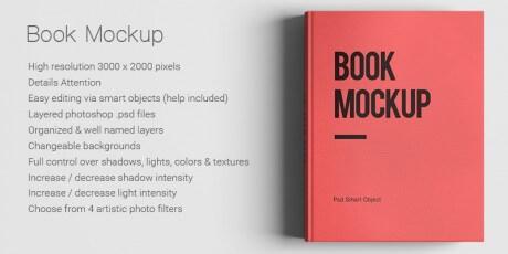 psd mockup book photoshop smart