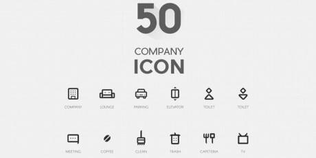 company flat icons set
