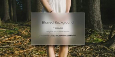 draggable blur filterless box