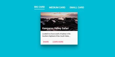 material design card transform