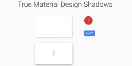 true material design shadows