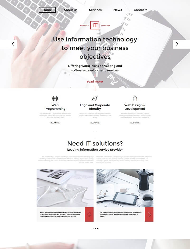 Effective IT Solutions Website Template