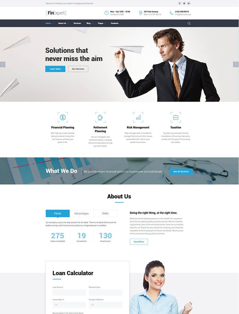 FinExpert Website Template