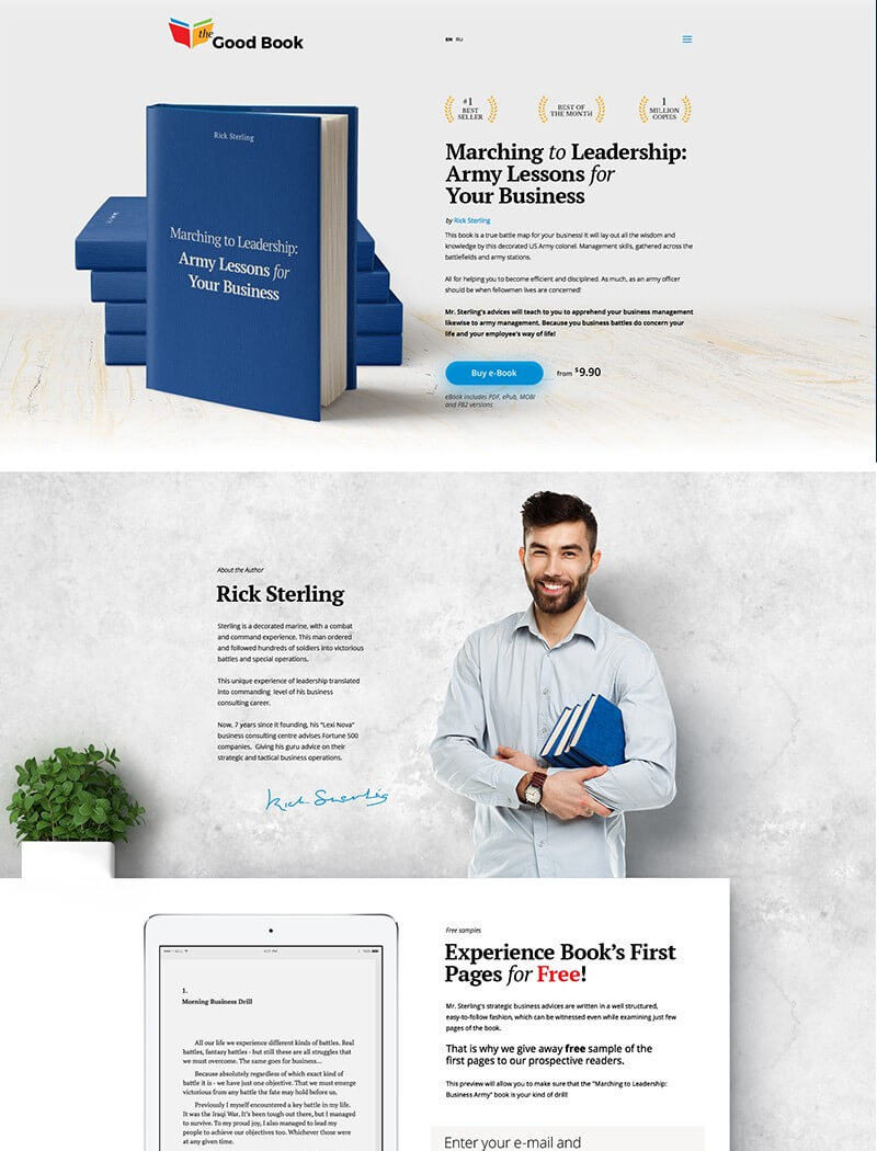 Good Book Website Template