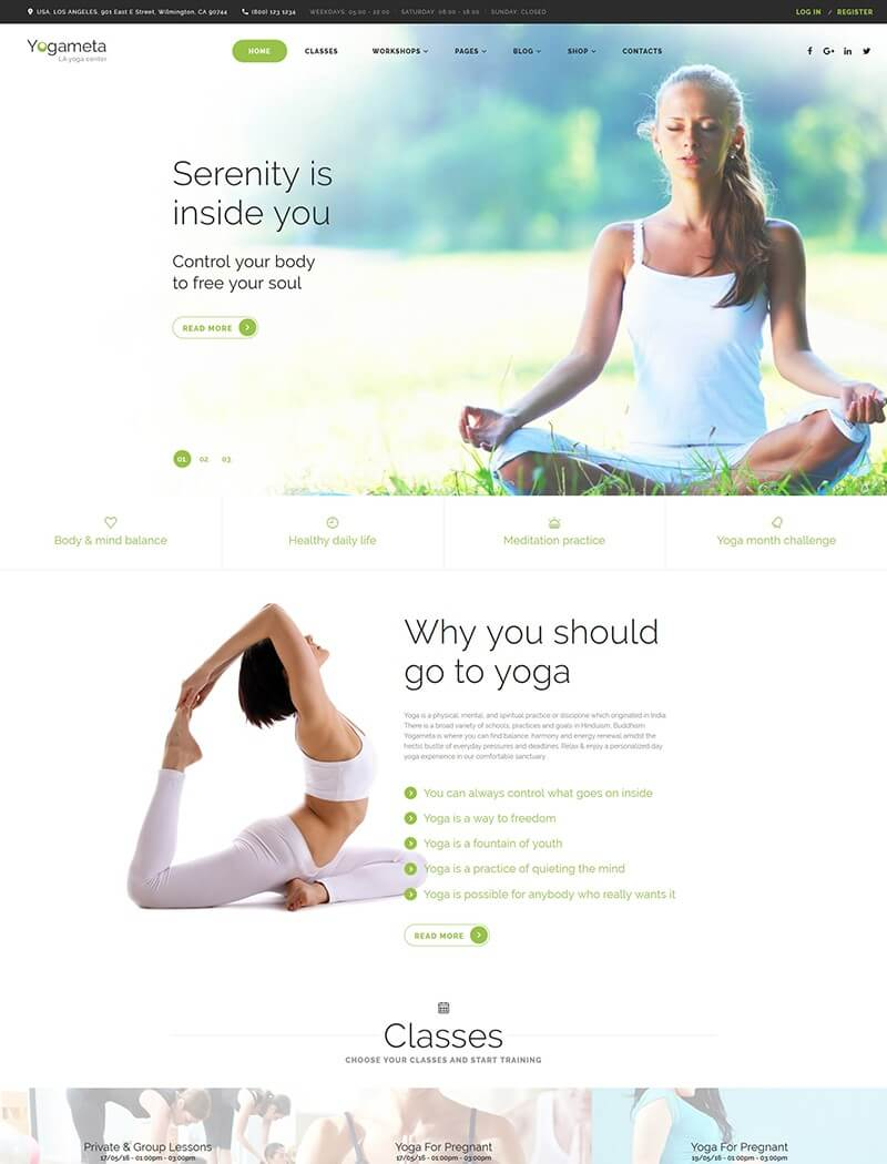 Yogameta Website Template