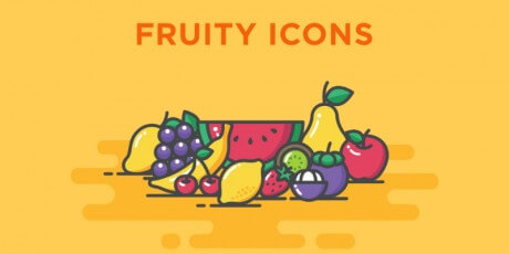 blob fruits icon set