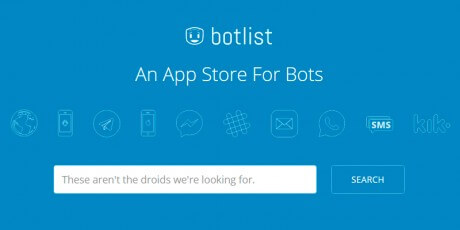 botlist web bots app store