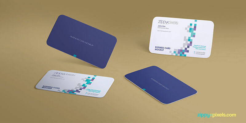 Gravity business card psd mockup bypeople reheart Choice Image