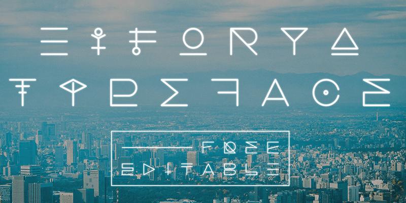 experimental futuristic font