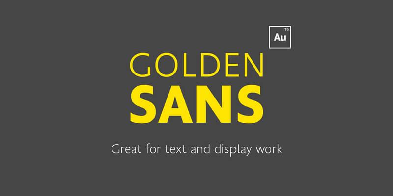 golden sans free font