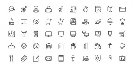 mobile vector icons collection
