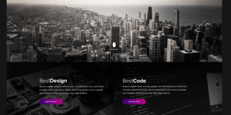 modern agency psd template