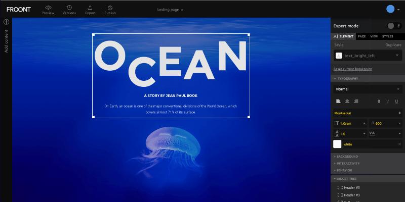 Froont online web design tool bypeople Online design tool