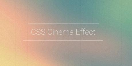 pure css cinema effect