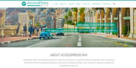 single page bussiness wordpress theme