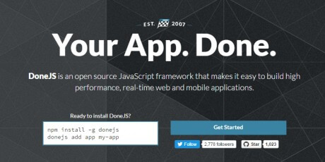 app web development javascript framework