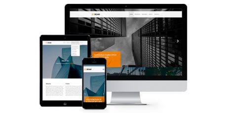 architectural website bootstrap template