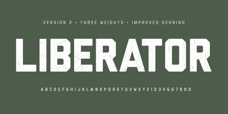 bomber inspired bold typeface