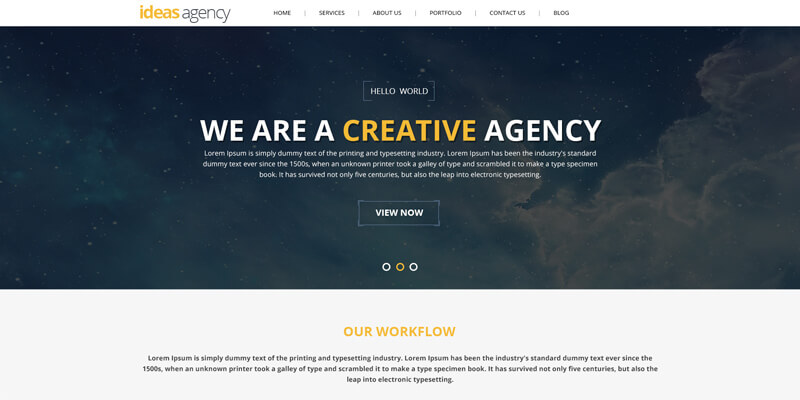 Creative Agency Portfolio PSD Template | Bypeople