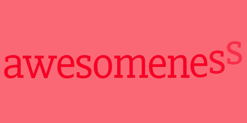 Css style hover text