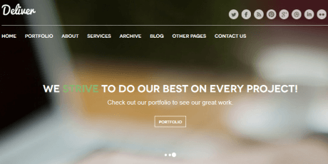 deliver free psd template