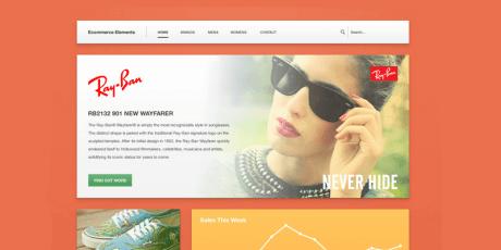e commerce web elements psd template