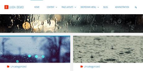 fluida blogging wordpress theme