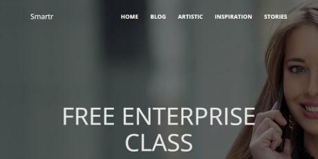 free bootstrap freelancer wordpress theme