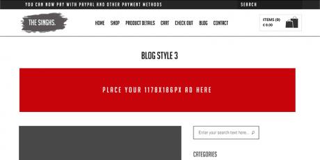 free e commerce psd template