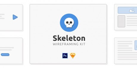 free psd and sketch wireframing kit