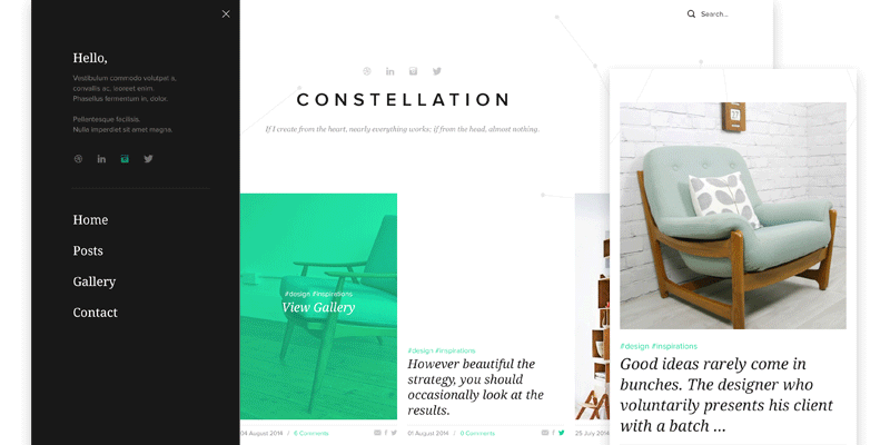 Constellation: Tumblr PSD Template | Bypeople