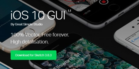free sketch ios 10 gui