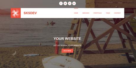 free startup wordpress theme sksdev