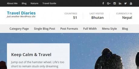 free travel blogging wordpress theme