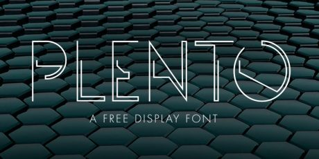 geometrical display typeface
