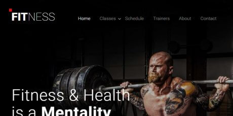 health fitness website bootstrap template