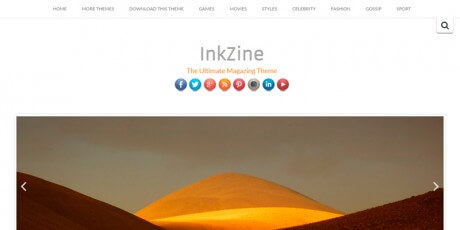 inkzine free wordpress theme