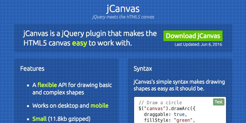 jCanvas: Lightweight JavaScript HTML5 Canvas Library
