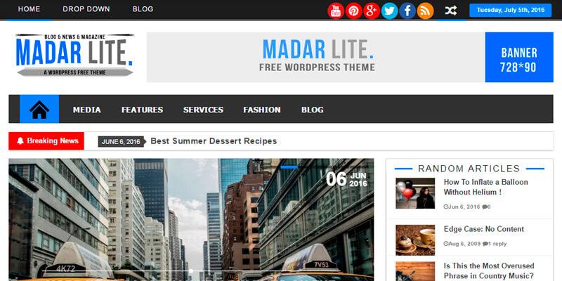 Madar Lite: Magazine News & Blog Wordpress Theme | Bypeople